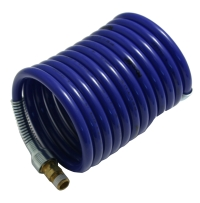 "Air Hose, 1/4"" ID X 12', Blue With 1/4 NPT Swivel Fittings, Nycoil,H4AS3-12 MAIN"