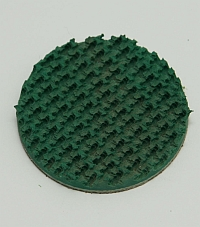 "Pad,Green,1-3/4"" Dia,3/16"" Pic 50 Rough Top Belting MAIN"