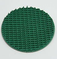 "Pad,Green,3"" Dia,3/16"" Pic 50 Rough Top Belting,For Cylinder Pad MAIN"