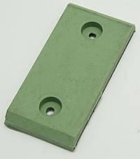 Pad, 60 Duro Green, 3-15/16 X 1-7/8 Molded with Steel Insert. MAIN
