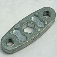 Conveyor Axle Support Bracket, 2 Hole, 7/16 Hex