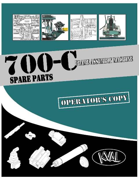 700-C Operator's Copy-Spare Parts Catalog THUMBNAIL