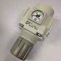 "REGULATOR, 1/2"" NPT PORT WITH BACK FLOW MECHANISM WITH GAUGE THUMBNAIL"