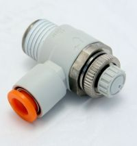 "Speed Controller, One-touch Fitting, 1/4 NPT - 1/4"" OD, Elbow & Universal Types, NAS2201F-N02-07S MAIN"