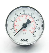Pressure Gauge, SMC, K50, 1/4 NT Thread, 160 PSI MAIN