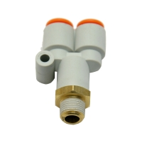"Fittings, SMC, Male Branch ""Y"" KQ2U Series MAIN"