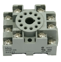 Relay Socket, SR3P05 3PDT, 11 Pin Screw, Track Mount, 10A, 300V MAIN