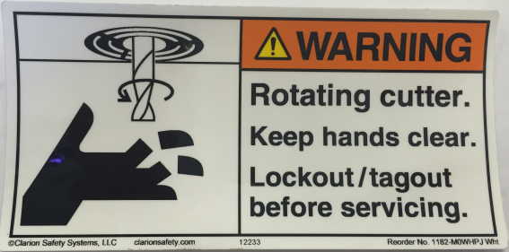 LABEL,WARNING,ROTATING CUTTER keep hands clear THUMBNAIL