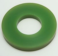 "Roller Green Polytube,3"" O.D. X 1-3/8"" I.D. X 3/8"" Wide,60 Duro MAIN"
