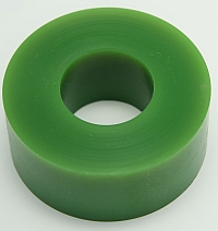 "Roller Green Polytube,3"" O.D. X 1-3/8"" I.D. X 1-1/4"" Wide,60 Duro MAIN"