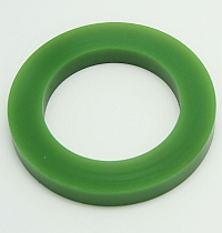 Roller Green Polytube,3-3/8 O.D. X 2-7/32 I.D. X 7/16 Wide,60 Duro MAIN