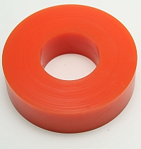 "Wheel,,Roller Orange Polytube,3-5/8"" O.D. X 1-5/8"" I.D. X 1"" Wide,80 Duro MAIN"
