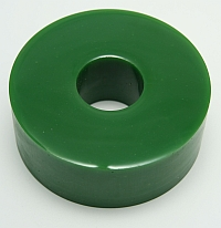"Wheel, Roller Green Polytube, 4"" OD X 1-3/8"" ID X 1-1/2""LG, 60 Duro MAIN"