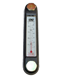 Sight Fluid Level Gauge Thermometer, Lenz, T-LLG-5 MAIN