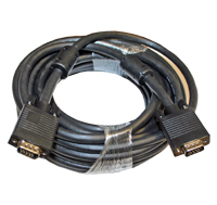 Cable, VGA Monitor Cable, 35 Ft. M To M, with Ferrite Bead, Black MAIN