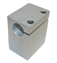 "Shaft Support, 1-1/2"" X 2"" X 2-1/2, 3/4"" Bore, Anodized Aluminum MAIN"