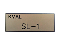 Plastic Engraved Label, SL-1, Machine Name, Silver MAIN
