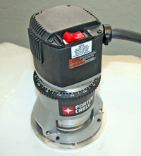 Porter Cable, Router, Model 7519, 3-1/4 HP with Modified Base & Adapter Plate, No Soft Start 15 Amps MAIN