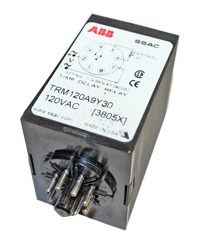 Timer. SSAC, Time Delay Relay, 120 VAC, 8 Pin, TRM120A9Y30 MAIN