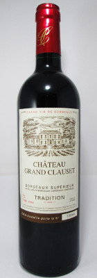"Chateau Grand Clauset Bordeaux Superieur ""Tradition"" 2014 THUMBNAIL"