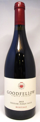 "Goodfellow Family Cellars Oregon Pinot Noir ""Heritage"" 2012"