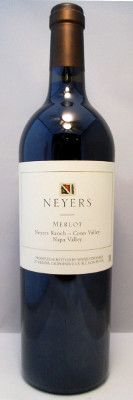Neyers Merlot Neyers Ranch 2012