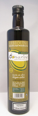 Olabarri Bonarbe Olive Oil Arbequina Harvest 2014 - 500 ml