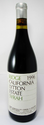 Ridge Lytton Estate Syrah 1996