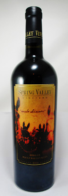"Spring Valley Vineyard Merlot ""Mule Skinner"" 2013 THUMBNAIL"
