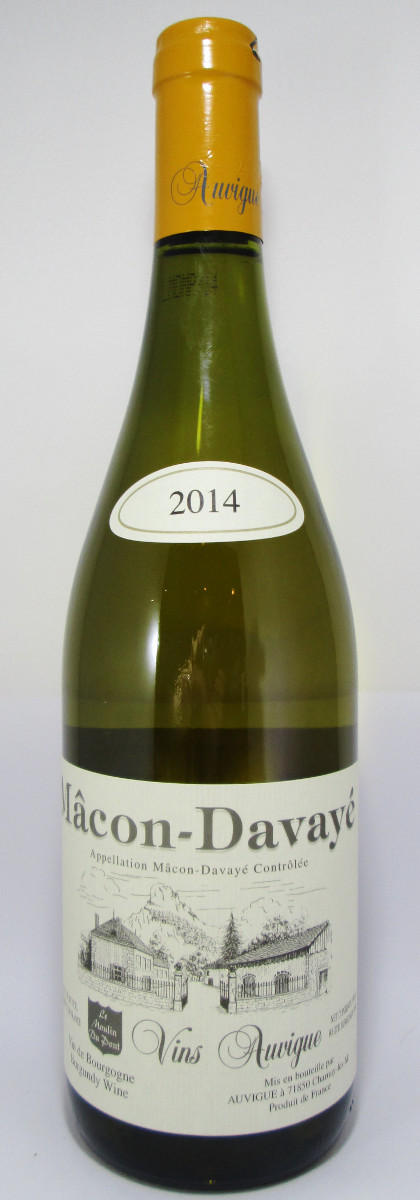 "Vins Auvigue Macon-Davaye ""Le Moulin du Pont"" 2014"