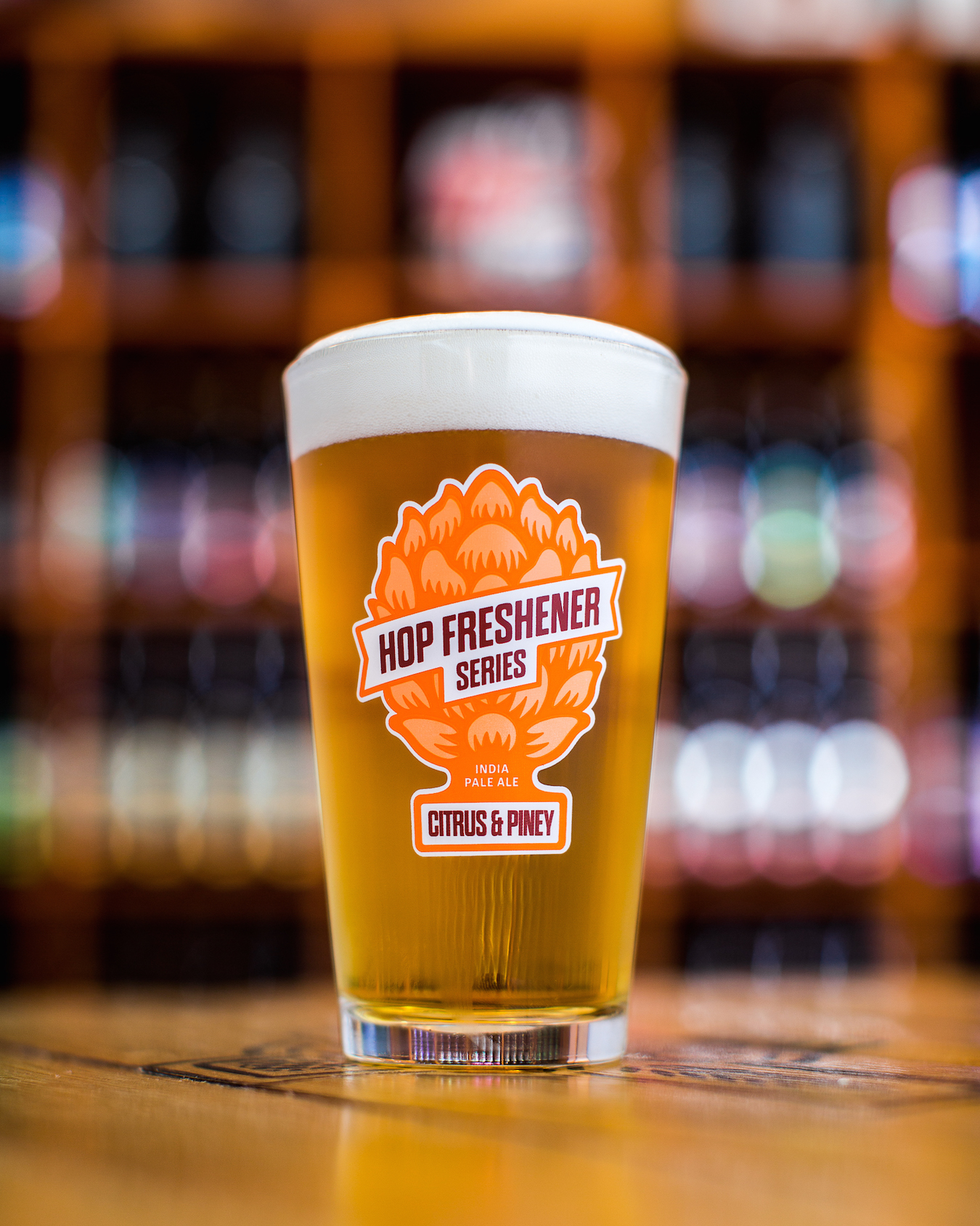 The Hop Concept Hop Freshener Series Citrus & Piney Pint Glass MAIN