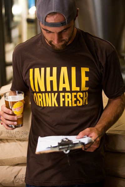 The Hop Concept Inhale Brown T-Shirt