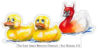 The Lost Abbey Duck-Duck-Gooze Sticker