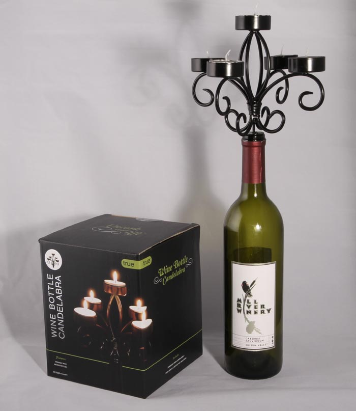 Wine Bottle Candelabra LARGE