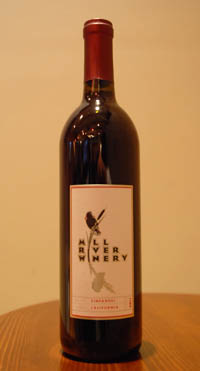Mill River Winery's Zinfandel THUMBNAIL