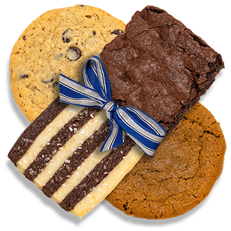 A delicious assortment of cookies and brownies for Chanukah gift giving