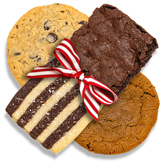 A delicious assortment of cookies and brownies for Holiday gift giving