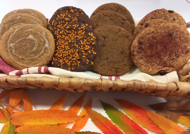 Pumpkin Cookies with maple glaze new for Fall by Nomoo Cookie Company.  Fall Assortmant