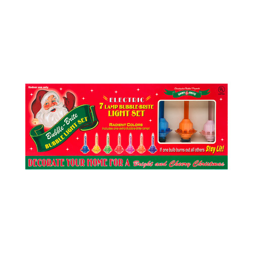 Holiday Splendor Bubble Bright 7 Light Strand