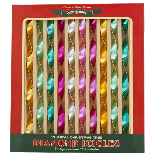 Vintage Celebration Metal Diamond Icicles