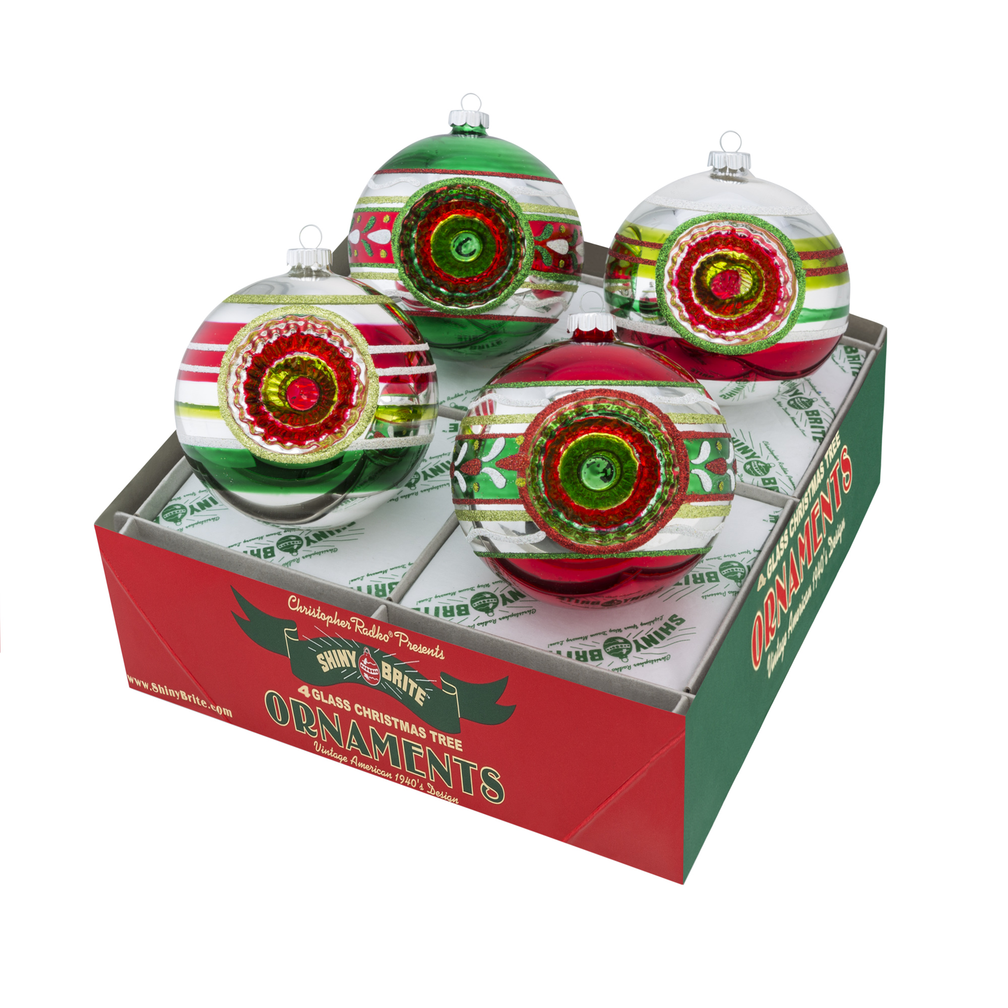 Holiday Splendor Decorated Rounds with Reflectors