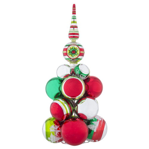 Holiday Splendor Cluster Tree with Reflector Finial