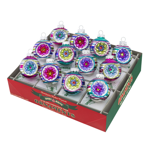 Christmas Brights Decorated Rounds with Reflectors
