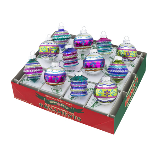 Christmas Brights Translucent Rounds & Shapes with Tinsel