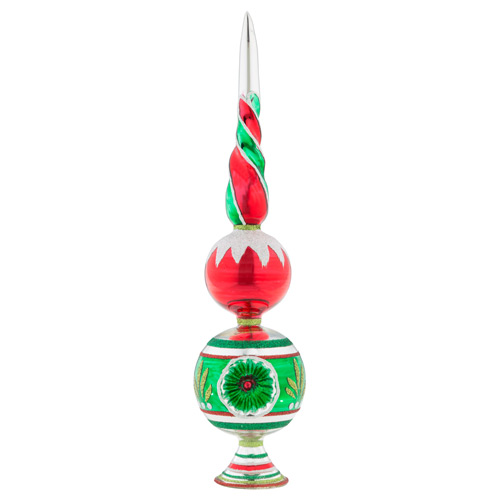 "Holiday Splendor 13"" 1c Finial Stand With Reflector"