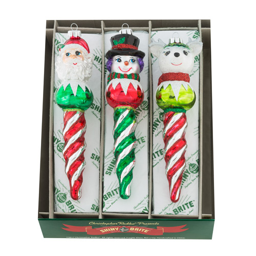 "Holiday Splendor 7"" 3c Figure Icicles"