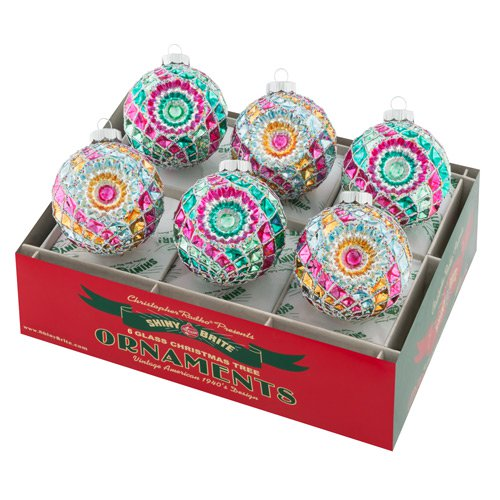 "Vintage Celebration 3.25"" 6c Decorated Rounds With Reflectors"