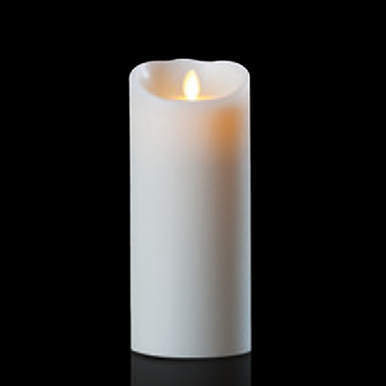 Luminara Ivory 4 Inch x 9 Inch Pillar Candle - Remote Ready