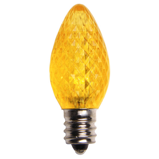 Yellow - C7 Faceted 25PK