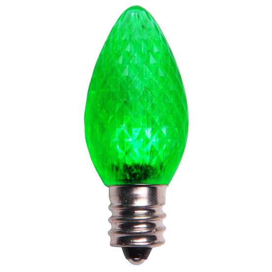 Green - C7 Faceted 25PK